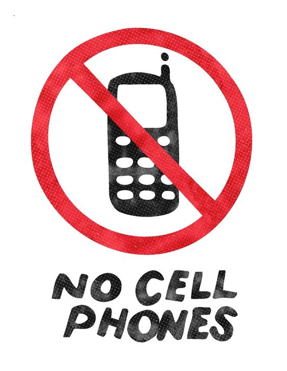 No Cell Phones Sign -- Gilmore Girls