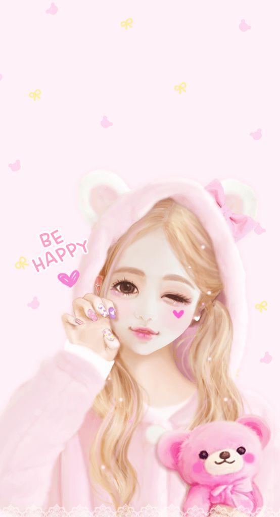 Be Happy -- Cute Anime Girl