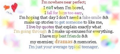 I'm nowhere near perfect