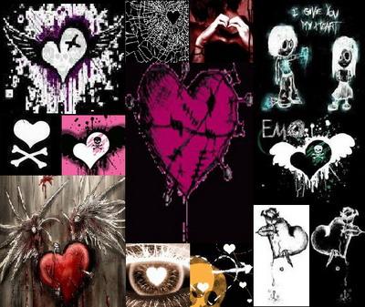 Broken Heart Emo Style