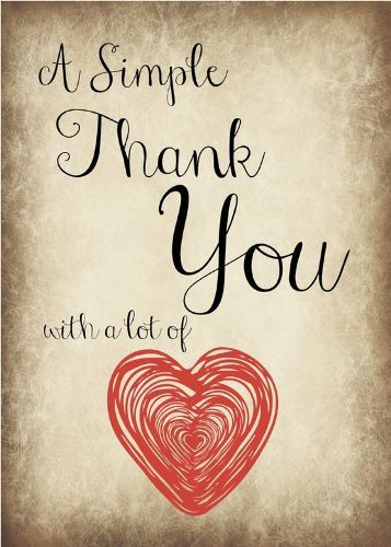 A Simple Thank You with a lot of ℒℴѵℯ
