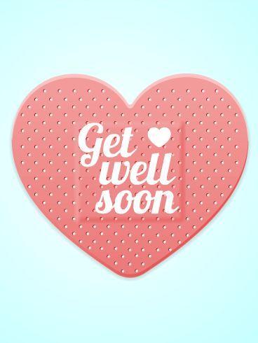 Get Well Soon -- Heart Bandage