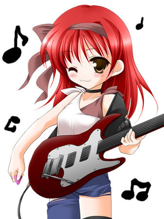 Music Anime Girl With Guitar