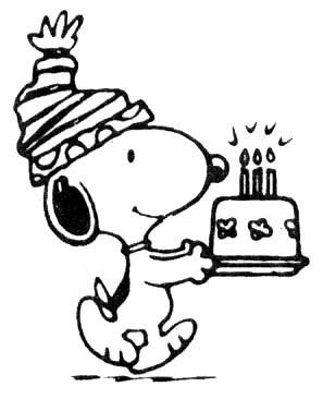Happy Birthday -- Snoopy, Cake