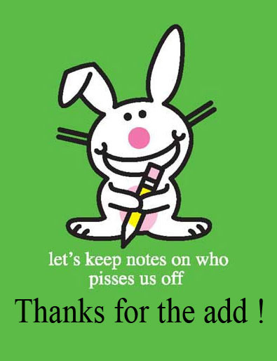 Thanks For The Add! Bunny