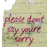 Please Don't Say You Are Sorry