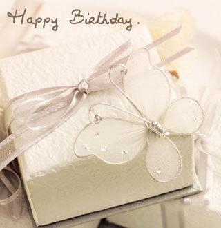 Happy Birthday White Butterfly