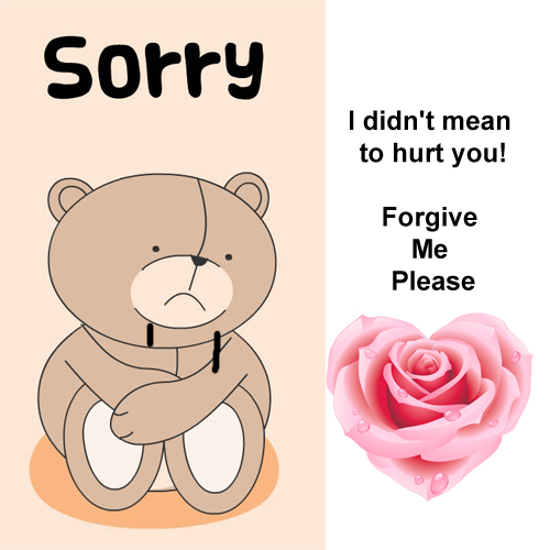 Sorry I didn't mean to hurt you! Forgive me Please