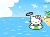 Hello Kitty Swimming