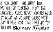 I You Jump I Will Jump Too We Will Fall Together