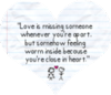 Love Is Missing Someone Whenever You're Apart