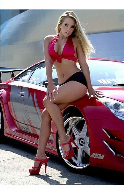 Sexy Girl Red Car