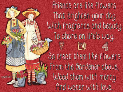 Friends Are Like Flowers That Brighten Your Day