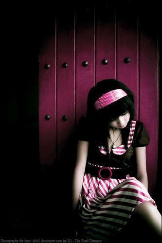Emo Girl On The Floor