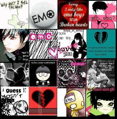 Emo Icons Collage