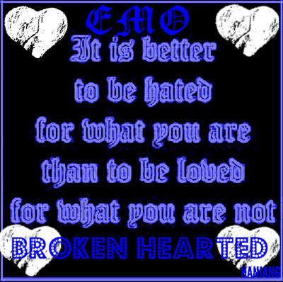 quotes about emo. emo broken heart quotes