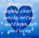 A Heart Is Not A Plaything