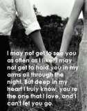 You're The One That I Love And I Can't Let You Go