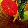 Girl Red Umbrella