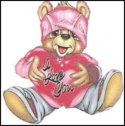 I Love You Bear Pink