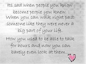 It's sad when...