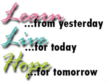 learn, live, hope