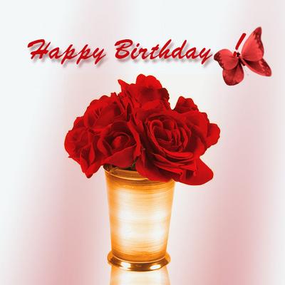 Happy Birthday Red Roses