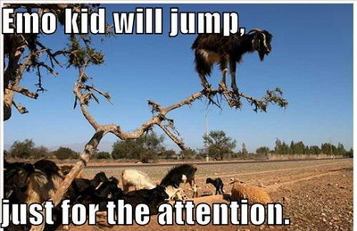 Emo Kid Will Jump Funny