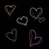 Emo Hearts Black