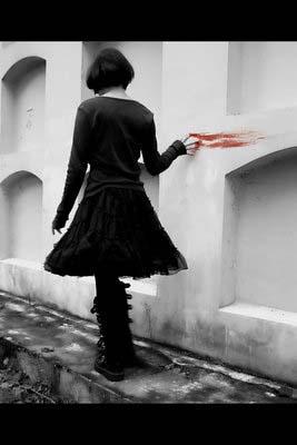 Emo Girl Blood