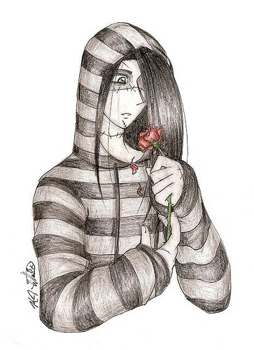 Emo girl with rose emo - Emo rose pictures ...