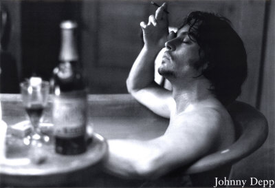 Johnny Depp Bathtub