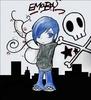 Emo Boy blue hairs