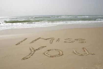 I Miss You Sand Beach