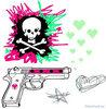 Skull gun heart