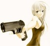 Anime Girl With Gun