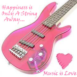 Music Is Love. Pink Guitar