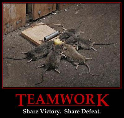 Teamwork. Share Victory. Share Defeat