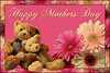 Happy Mother's Day, Pink Background, Bears