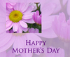 Happy Mother's Day, flowers, violet text
