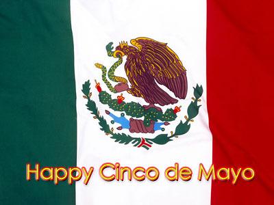 Happy Cinco De Mayo Mexican Flag