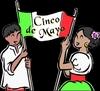 Cinco De Mayo Couple With Flag