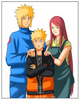 Naruto and his mother with his father