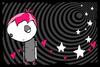 emo girl, pink hair