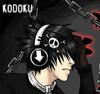 emo guy listening music