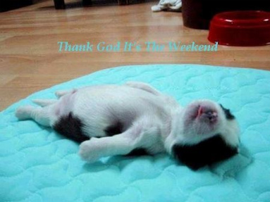 Thanks God it's the weekend