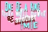 """One Of A Kind"""" in white, blue and red text with pink background"""