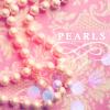 pearls, pink