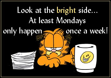 LOOK AT THE BRIGHT SIDE AT LEAST MONDAYS ONLY HAPPEN ONCE A WEEK!