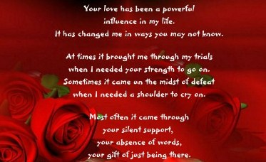 red poem and roses about mom